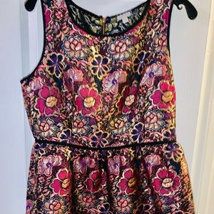 NWOT Embroidered Floral Party Dress